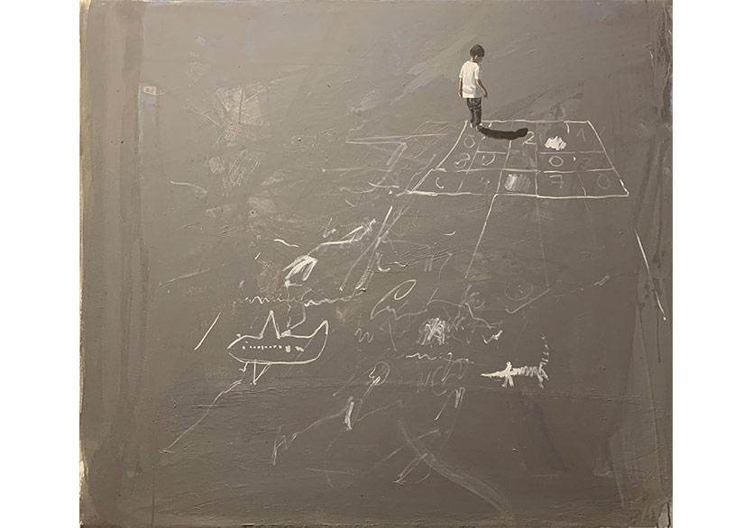 İsimsiz 2, tuval üzerine akrilik 128x111 cm, 2018