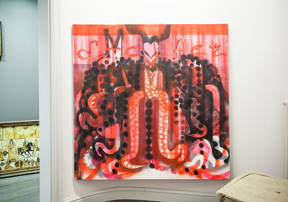 Lucifer Şeytan Portresi, tuval üzerine yağlıboya ve akrilik boya, 2011©Korhan Karaoysal