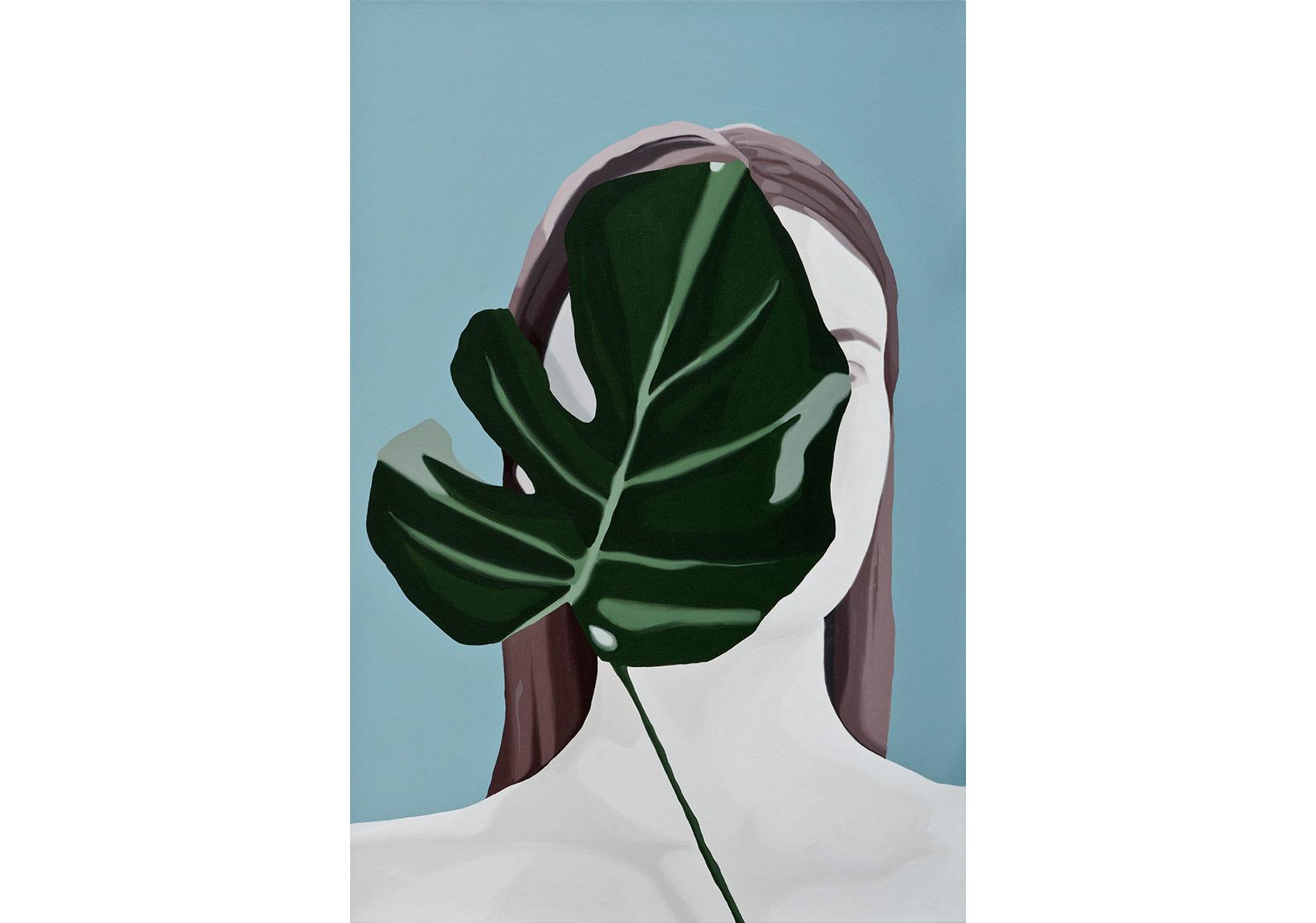 Seda Hepsev,Dışarıda Kalanlar, İçeride Olanlar,Tuval üzerine akrilik 100 x 70 cm, 2014