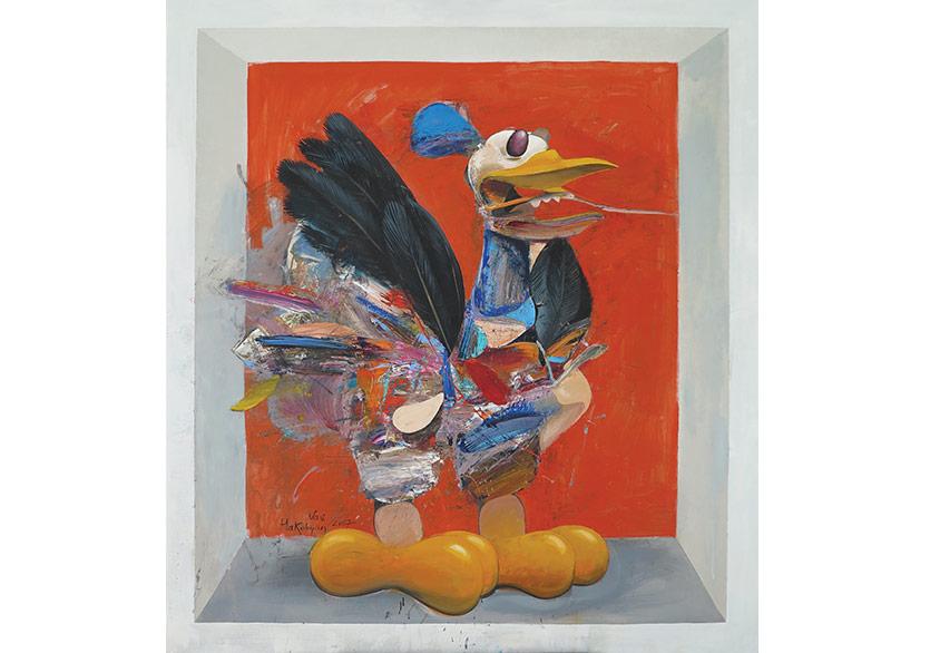 Vav HakobyanBird (Kuş), 2017Oil on canvas (Tuval üzerine yağlıboya)105 x 95 cm.