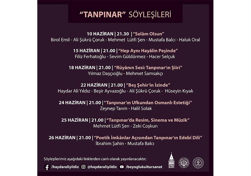 Ahmet Hamdi Tanpınar, 120. Yaşında Beyoğlu'nda Anılacak