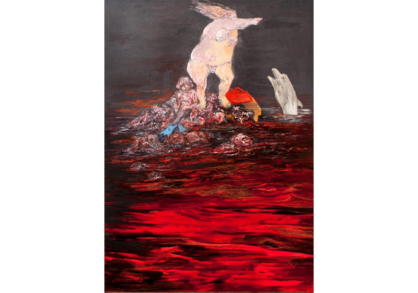 Ben Annen Değilim,2011,Tuval üzerine yağlıboya,250 x 180 cm,Sanatçı Koleksiyonu