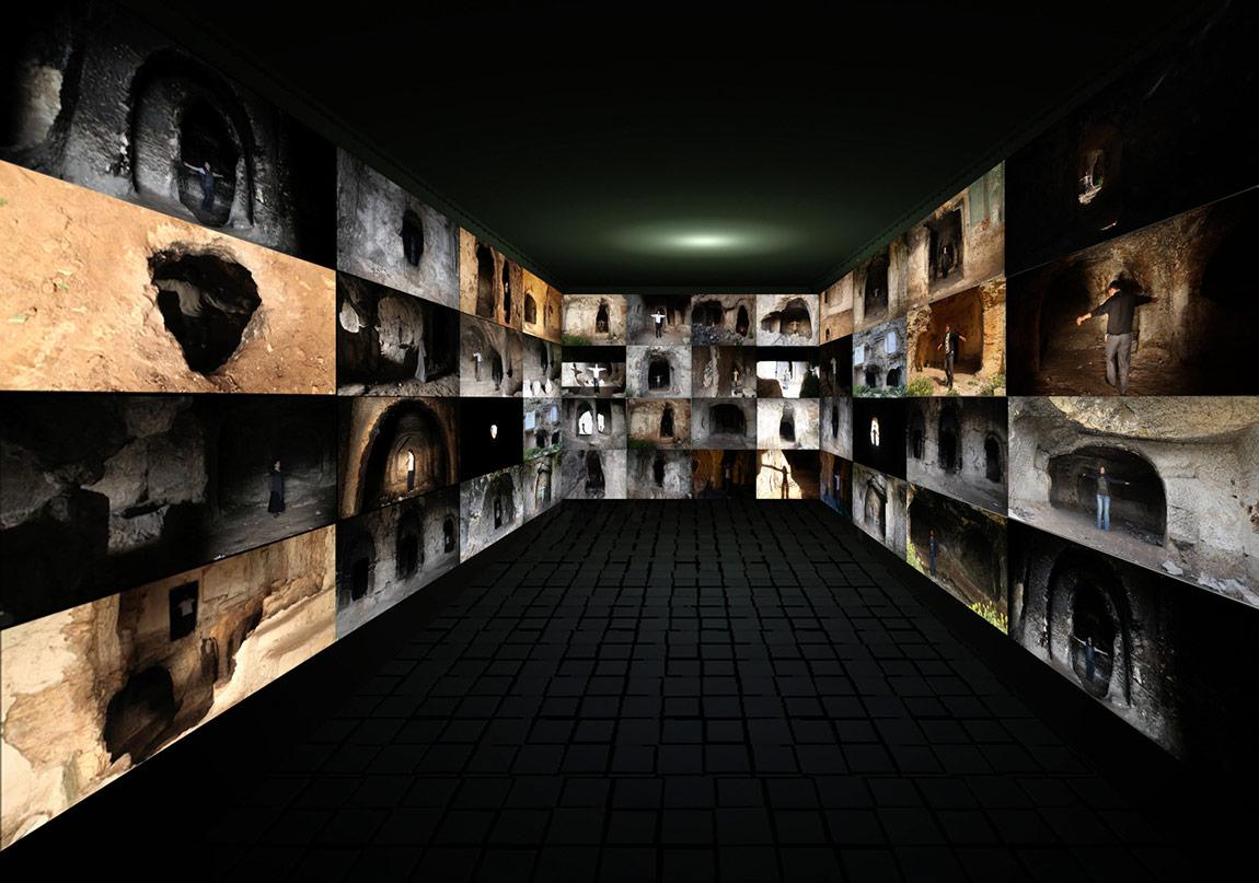 Yeniden Ziyaret, Video Enstelasyon, Loop, Çeşitli Boyutlarda, 2012-2014, Urfa, Türkiye