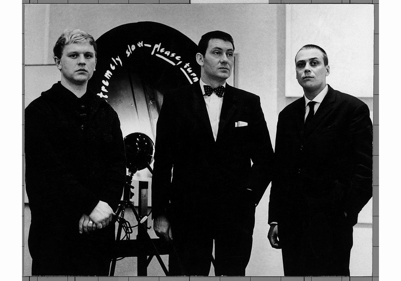 Heinz Mack, Otto Piene, Günther Uecker im Stedelijk Museum Amsterdam, 1962, Foto Unbekannt