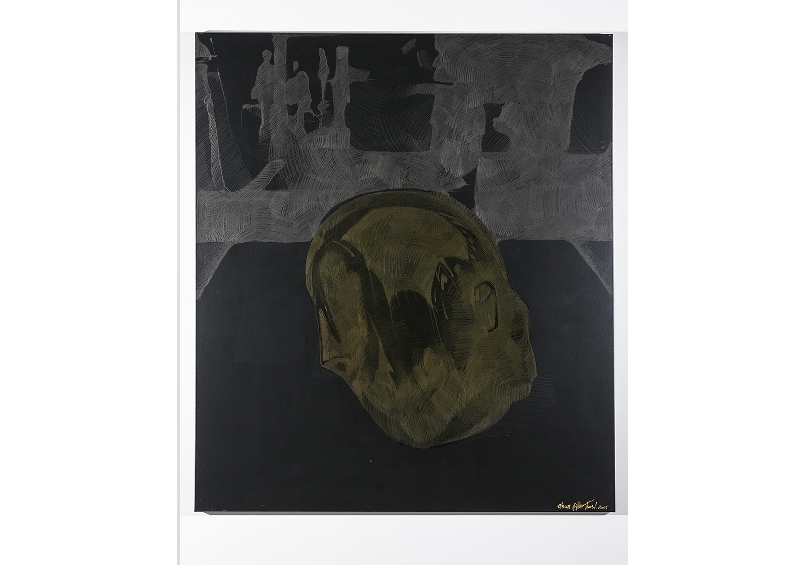 Oksana Mas«GETTING OF EVERYTHING OF ONE'S OWN» (2015) canvas, acrylic, varnish, pencil 160х130cm