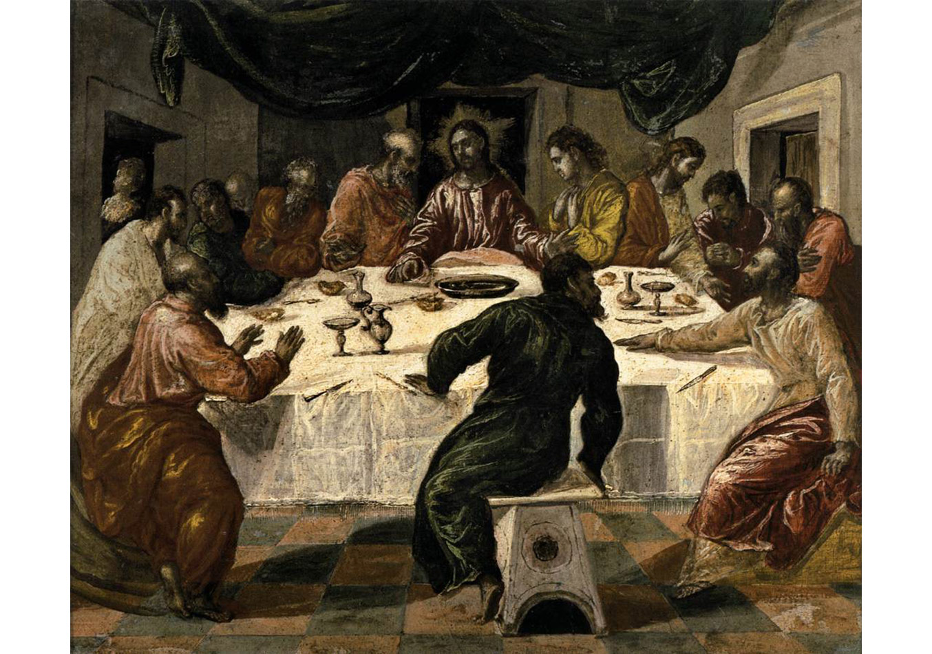El Greco,Son Akşam Yemeği,1568, ahşap üzerine yağlıboya, 43 x 52 cm, Pinacoteca Nazionale, Bologna