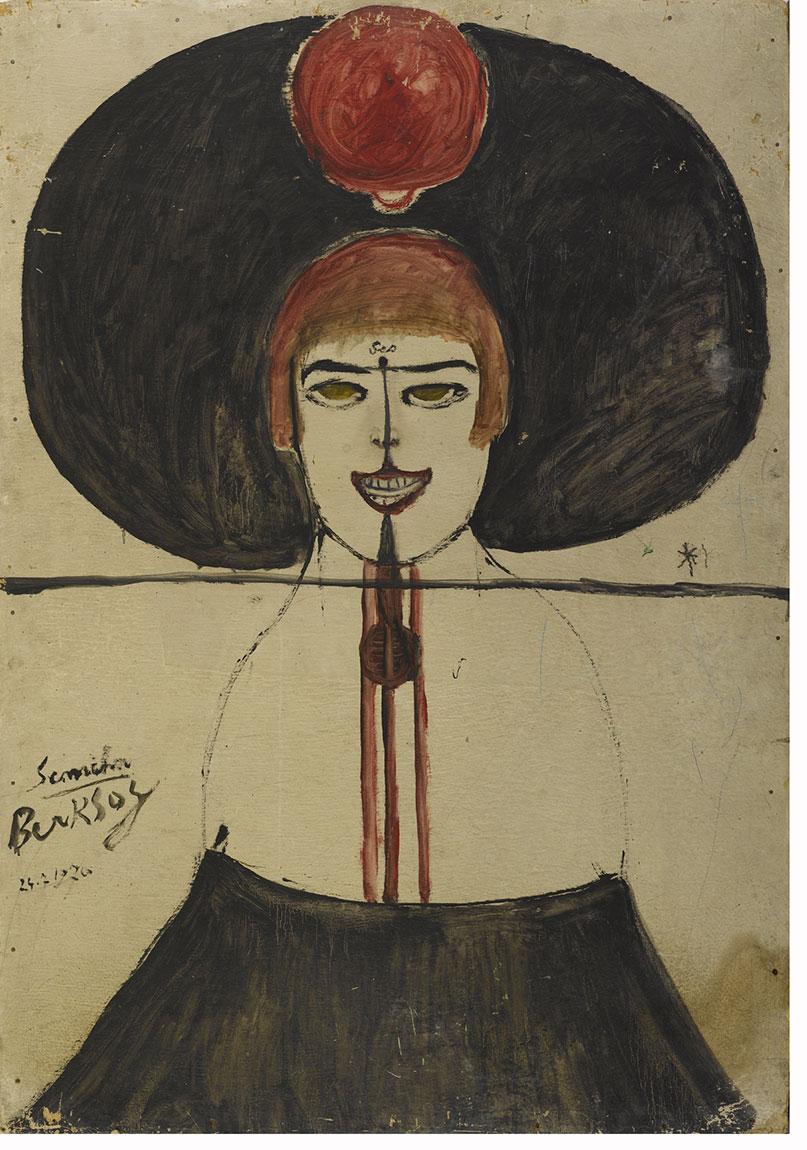 Semiha Berksoy, 'Ses', 1970, duralit üzerine yağlıboya, 100 x 70 cm
