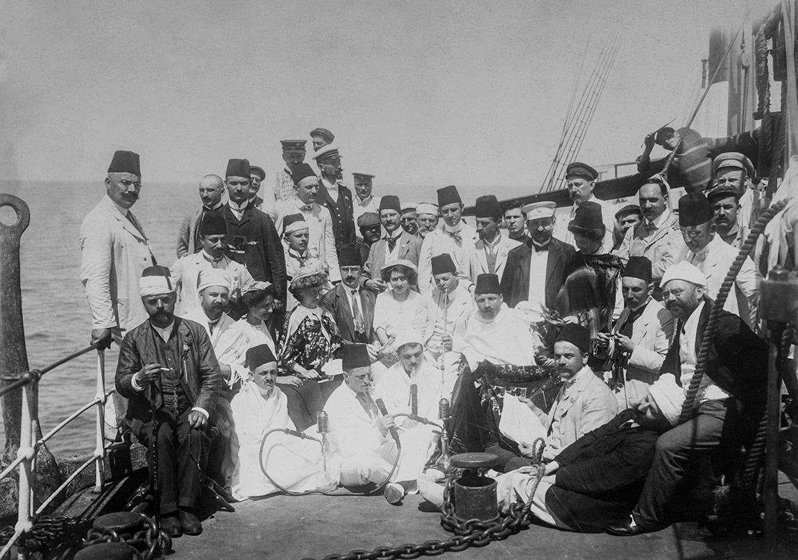 Osmanlılar ve Avrupalılar bir gemide, Anonim Tarihsiz, Pierre de Gigord Koleksiyonu.