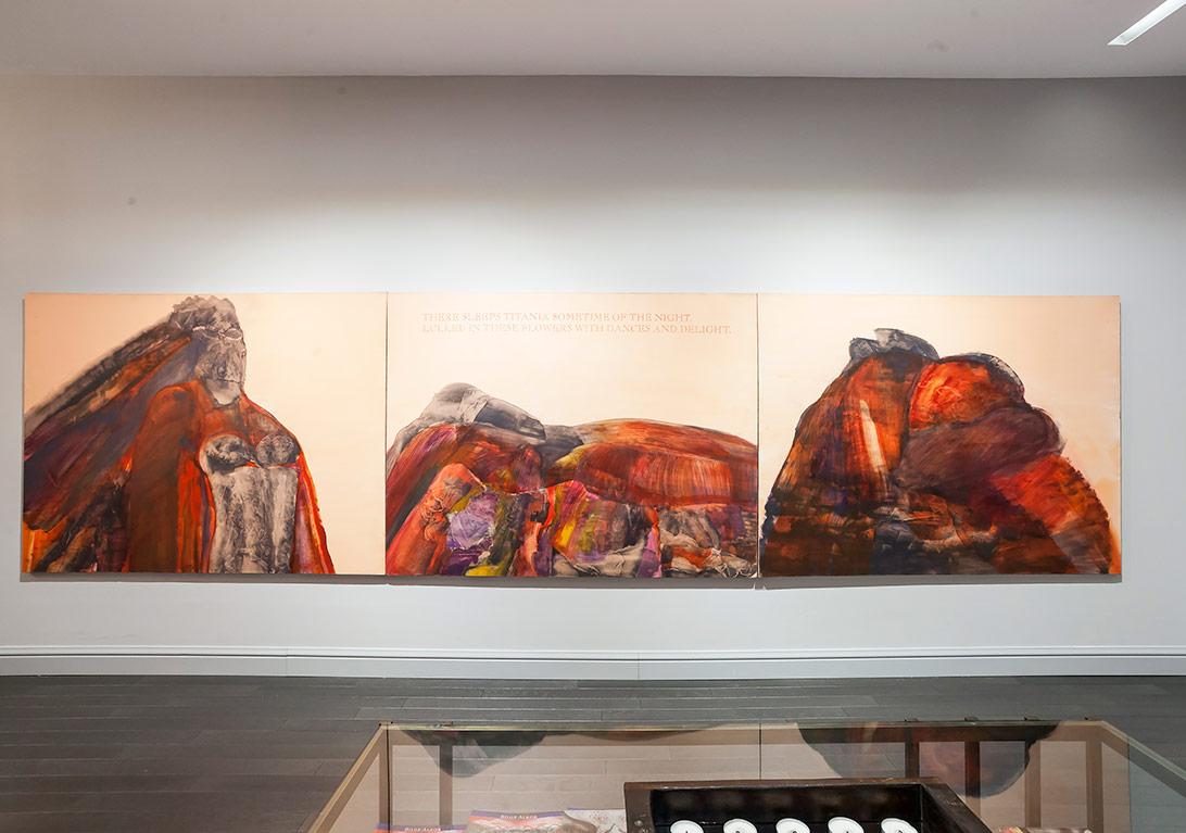 Titania Üçlüsü, tuval üzerine yağlıboya ve akrilik boya, 1996©Korhan Karaoysal