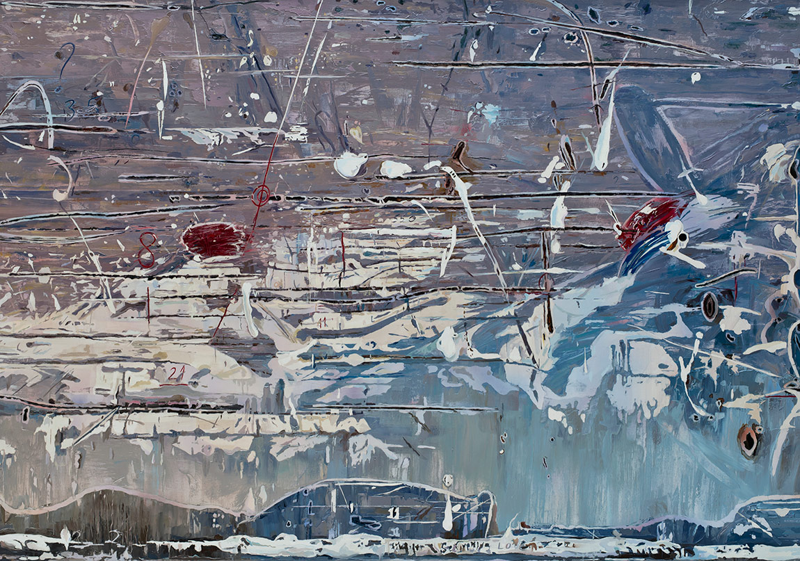 Değişken Yüzey,Tuval üzerine yağlıboya, 135 x 200 cm, 2015