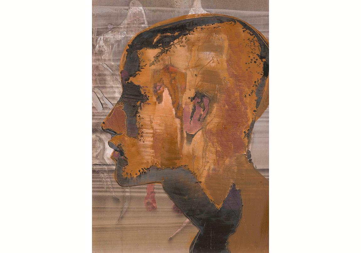 Horasan İsimsiz, 2016. Kâğıt üzerine yağlıboya, 100x70 cmHorasan, Untitled, 2016. Oil on paper, 100x70 cm