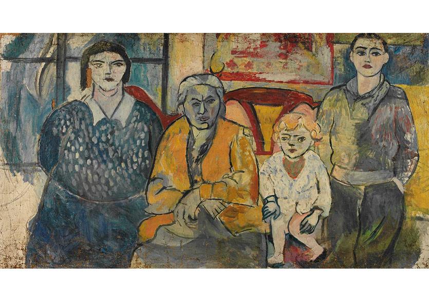 Ailesi, 1927 Tuval Üzerine Yağlıboya