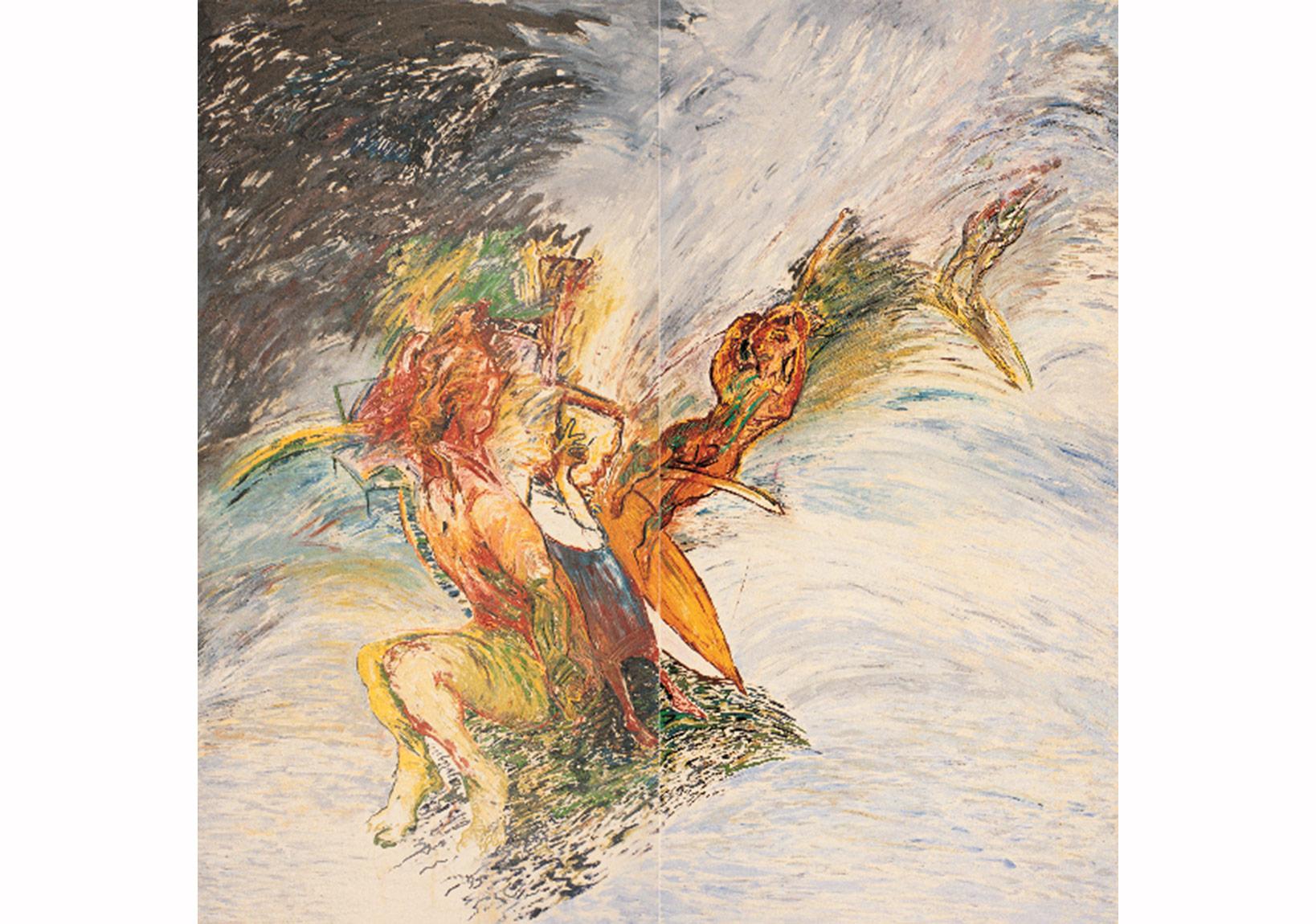 Su Serisi IV,Tuval üzerine yağlıboya,260 x 260 cm,Sanatçı Koleksiyonu