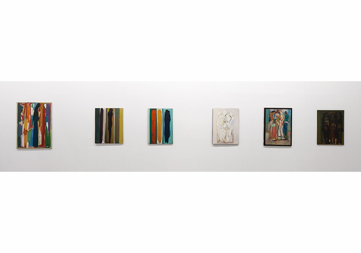 Composition, 1987, Oil on Canvas, 130x97/ L'Amour, 1970, Oil on Canvas, 100x80/The Stages of Life, ca. 1970, Oil on Canvas, 100x75/ Maternite, 1975, Oil on Canvas, 100x75/ Depart, 1957, Photo: Sahir Uğur Eren
