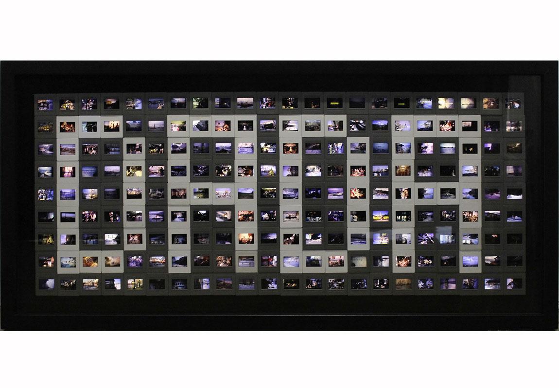 Buğra Erol, DADA, 378 Diadan oluşan ışıklı kutu, 55x120cm, 2014