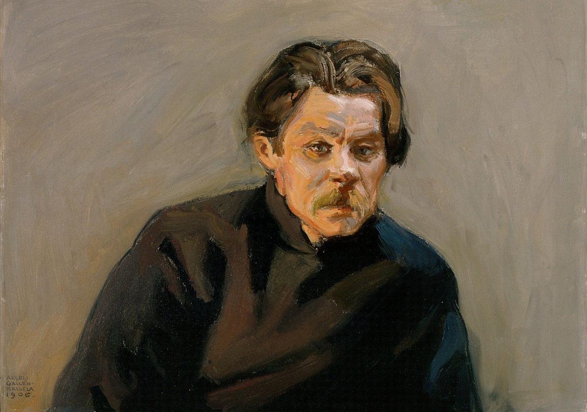Portrait of Maxim Gorky -Akseli Gallen-Kallela
