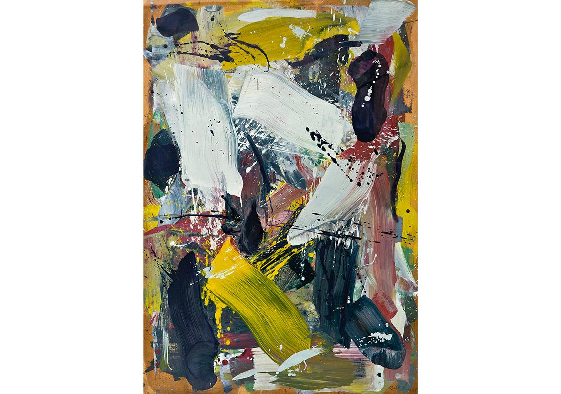 Cemal Gürsel Soyel, İsimsiz / Untitled, Kağıt üzerine yağlıboya / Oil on paper, 100x70 cm, 2015 (3.000 euro)