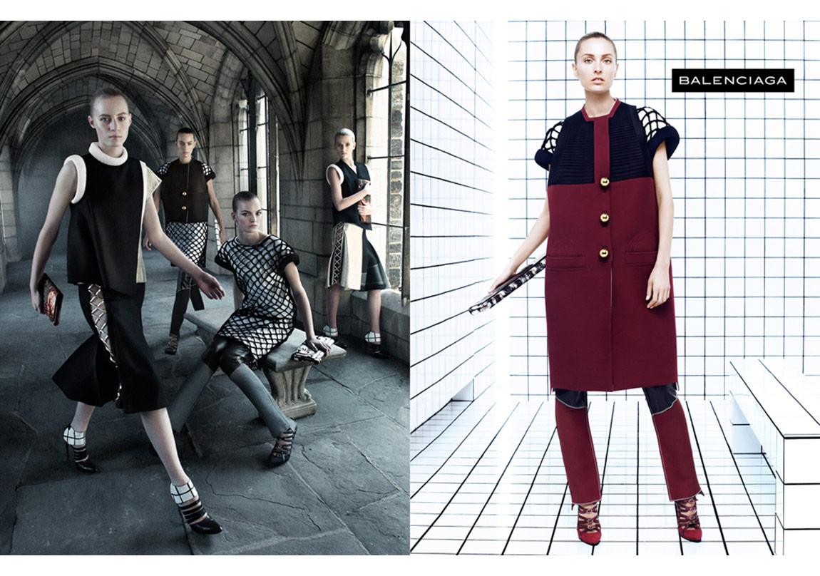 Balenciaga 2011/2012 Sonbahar/Kış reklam kampanyası, Fotoğraf: Steven Meisel