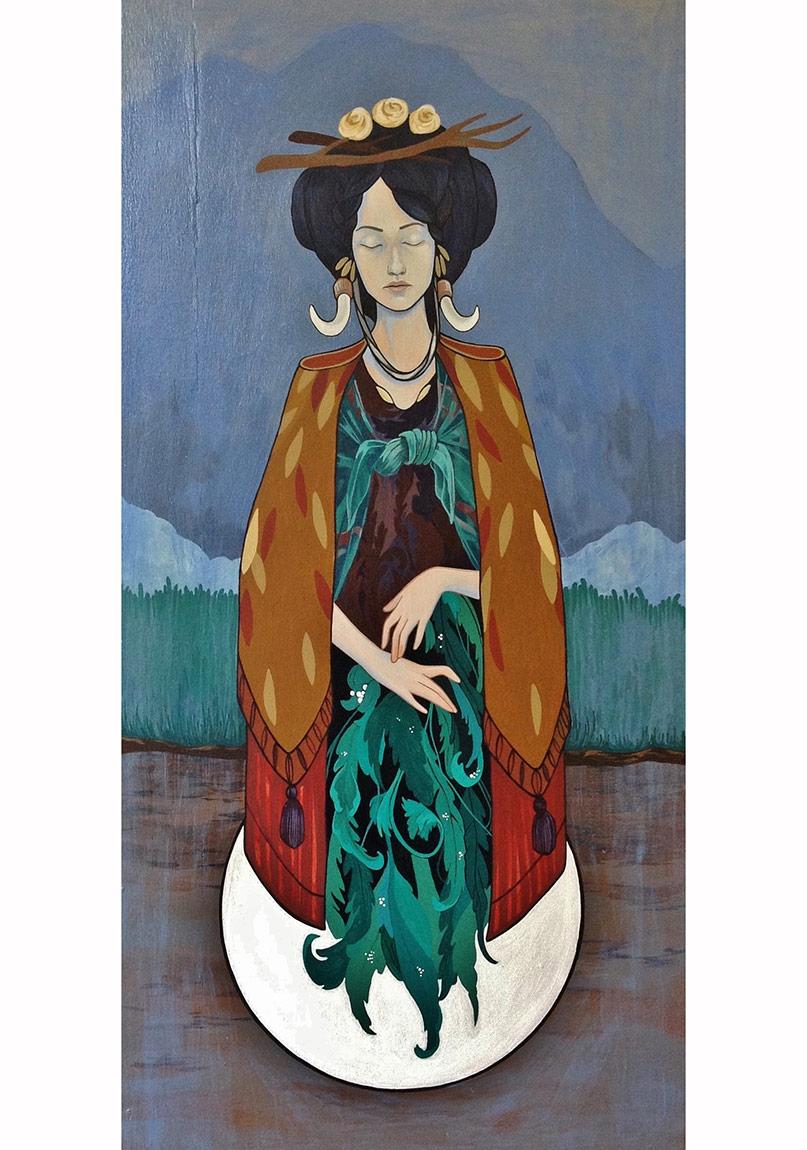 """Şifacılar / Herbalists"" (Diptik), 60 x 30 cm / 60 x 30 cm, Ahşap pano üzrine akrilik, 2014"