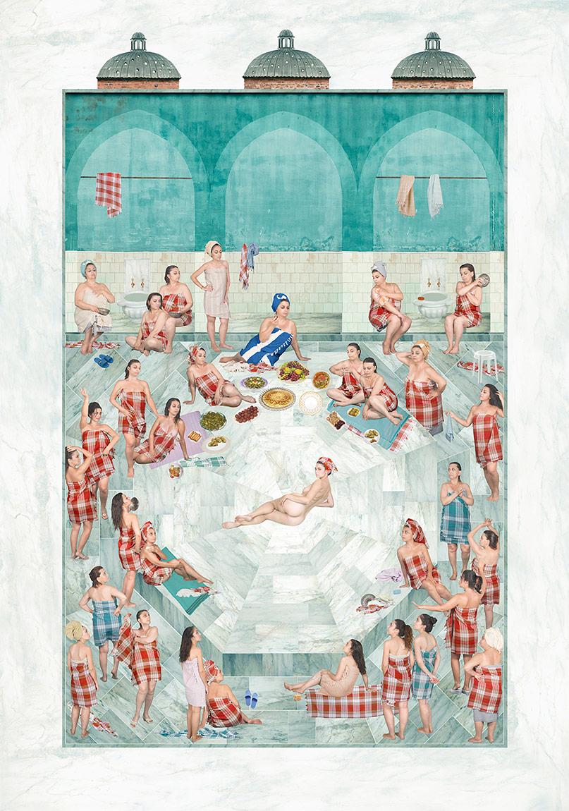 SinanTuncay, Nazar-i Bâkire, karışık teknik inkjet print, 9 ed + 2AP, 92x65 cm, 2014