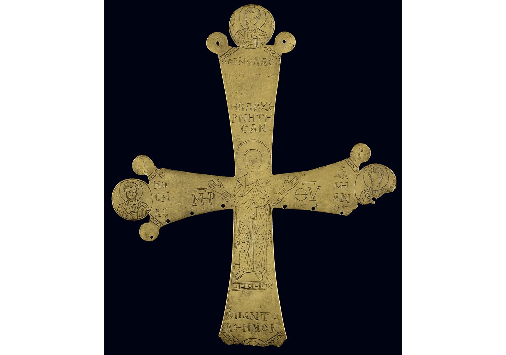 Tören haçı, 10. yüzyıl sonu–11. yüzyıl, Atina, Benaki Müzesi, env. no. 11442.