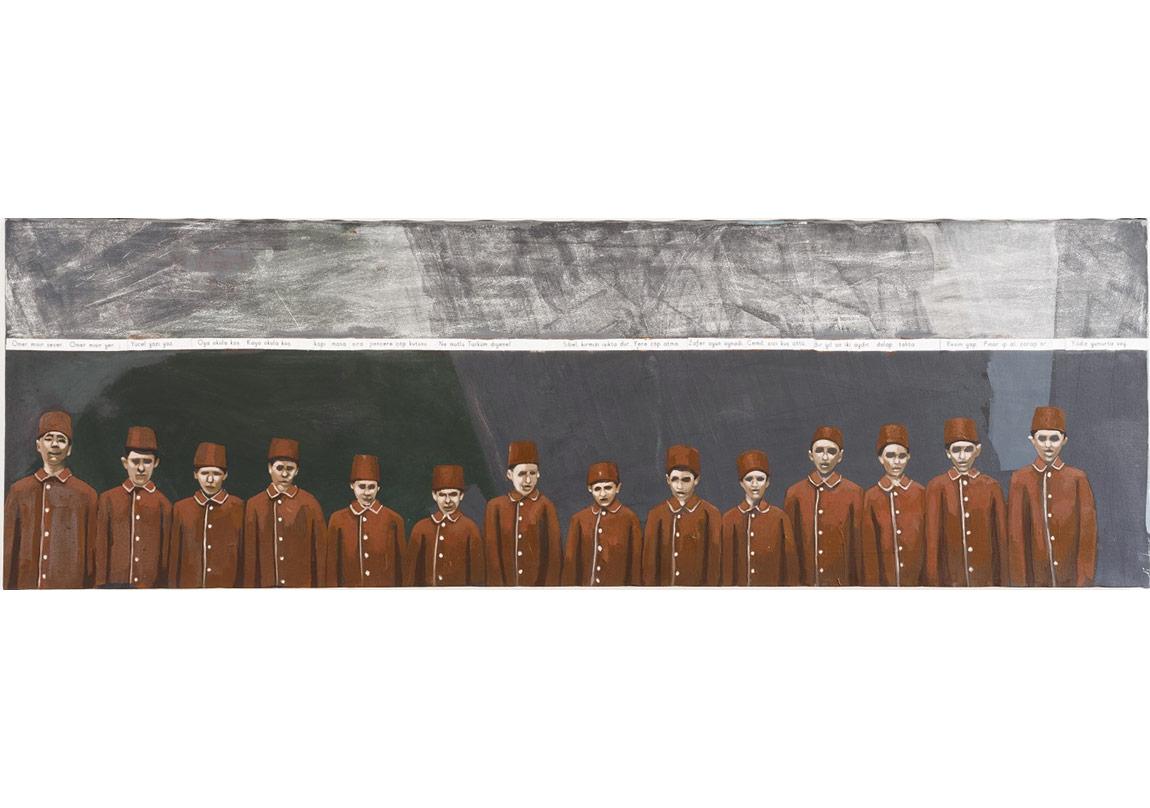 Letter Revolution I,160 x 50 cm, Mixed media on canvas, 2015