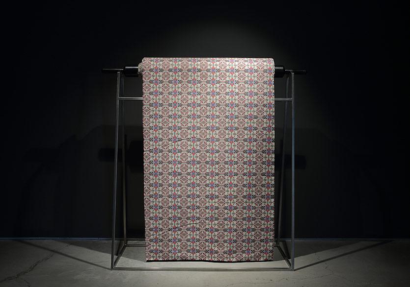 Perdelik Amerikan Bezi, 2018, 166x170x60 cm