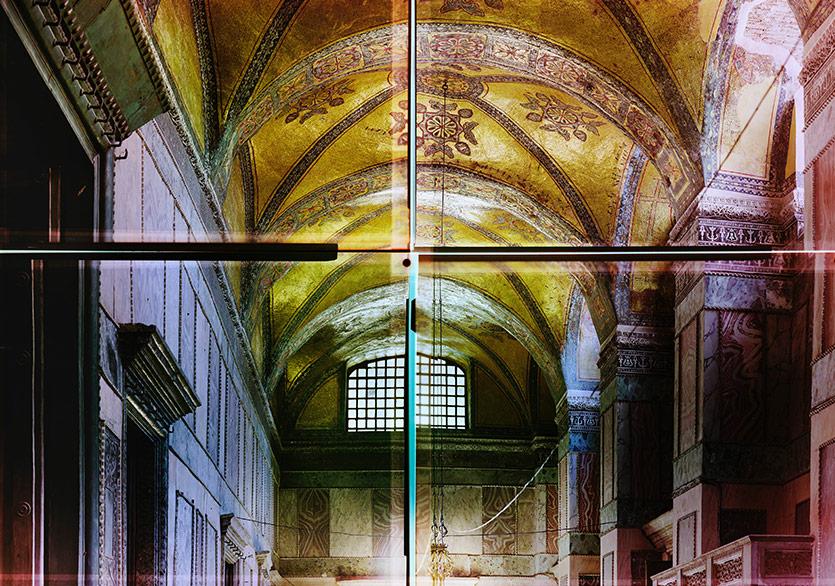 Ola Kolehmainen,Ayasofya yıl 537 XIV,2014,193 x 240 cm,Quadriptych, kromojenik baskı