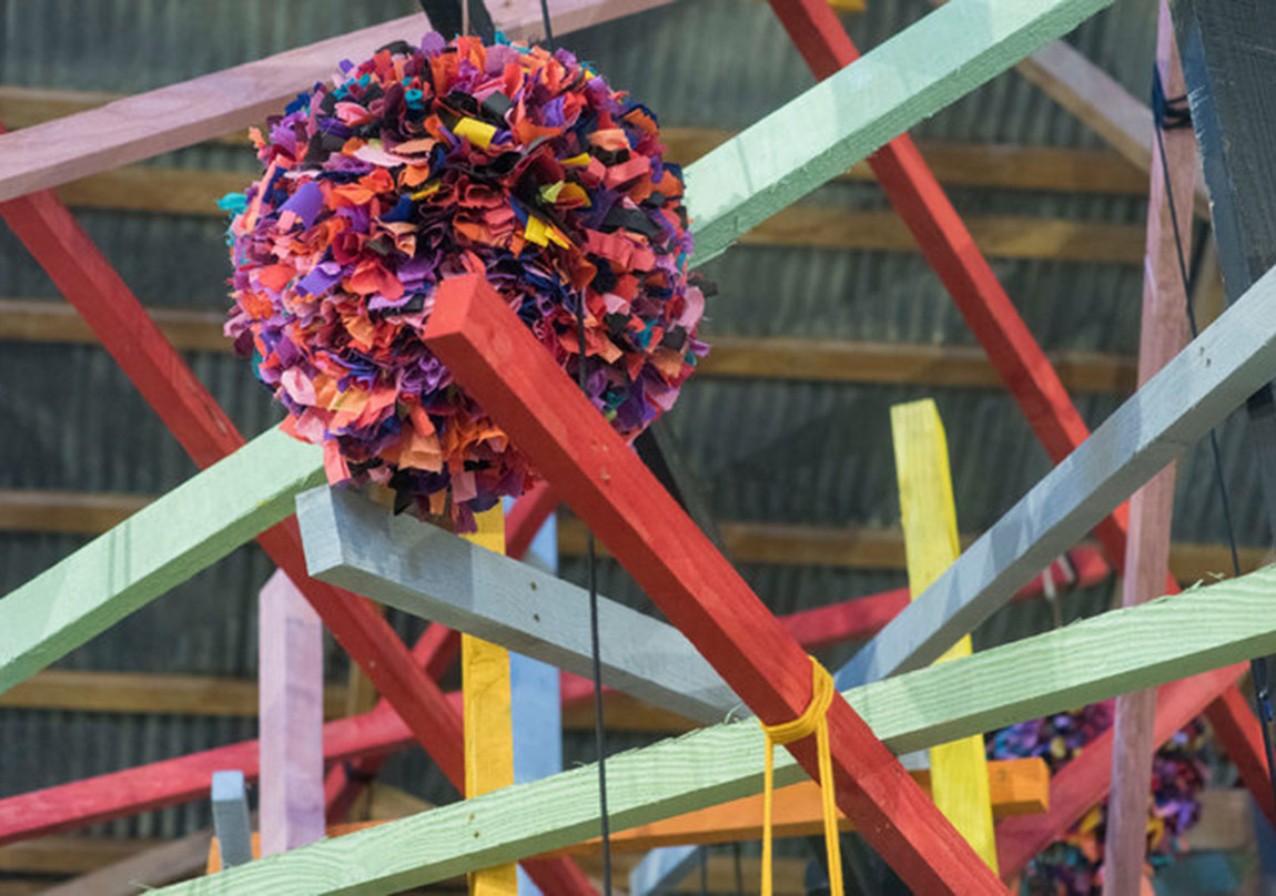 An untitled Phyllida Barlow sculpture. Credit: Michal Czerwonka for The New York Times