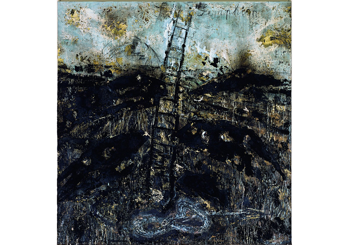 Seraphim, 1983-1984Huile, paille, émulsion et shellac sur toile320,7 × 330,8 cmSolomon R. Guggenheim Museum, New York, Purchased with funds contributed by Mr. and Mrs. Andrew M. Saul, 1984 Photo : © Atelier Anselm Kiefer