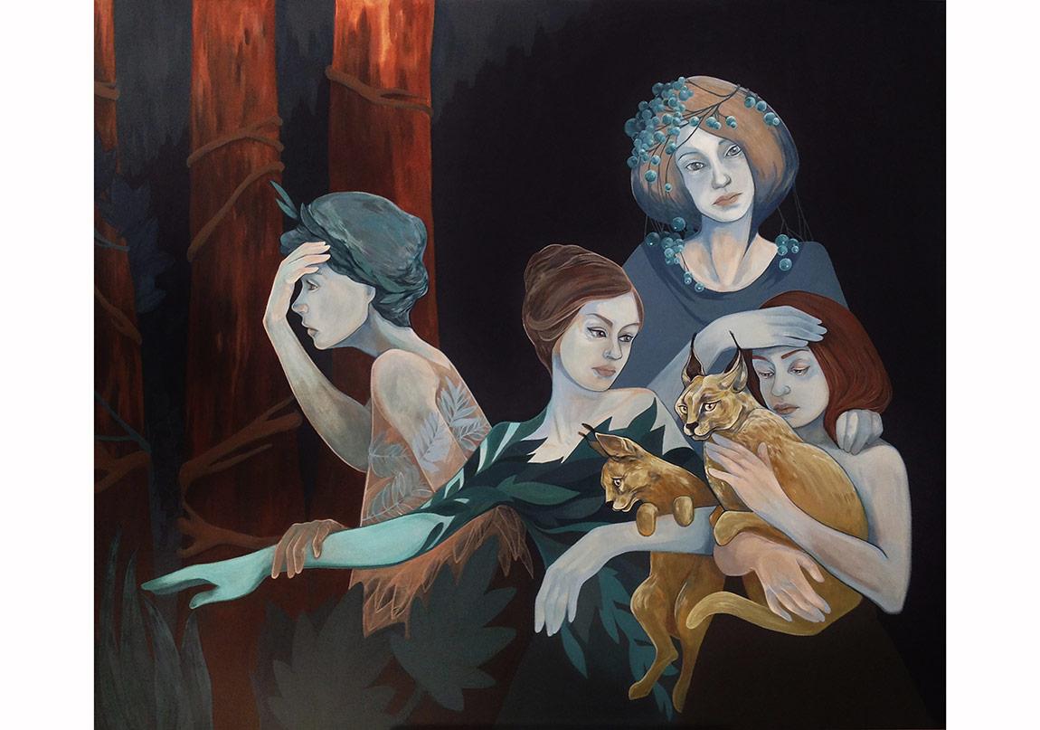 """""""Geri Dönüş / Return"""", 120 x 140 cm, Tuval üzerine akrilik, 2014"""