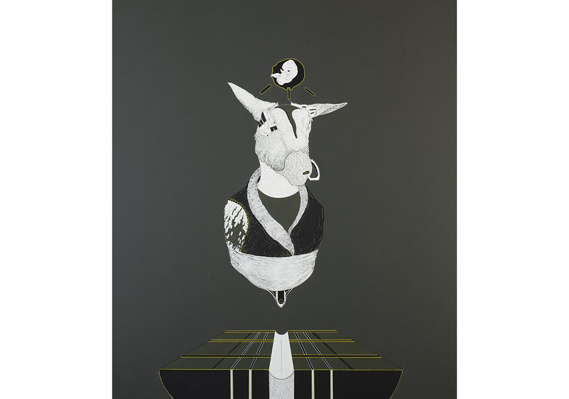 KeremAğralı - Başlangıç, 200x150cm, 2014, Tuval üzerine akrilik