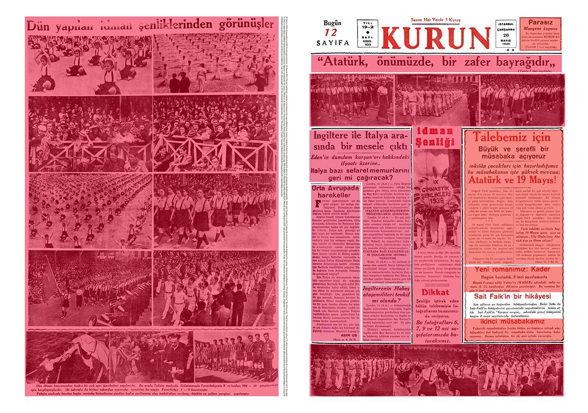 Didem Özbek, Kurun Gazetesi, Basılı malzemeden detay,Bir Karpuz Sergisi Açabilmek İçin Projeler Yapmakta İdi, 2012.