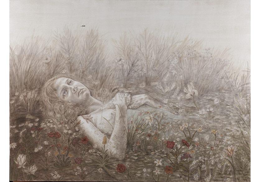 Rugül Serbest,Dünyanın Teni, 2018, tuval üzerine yağlıboya, 90x120 cm