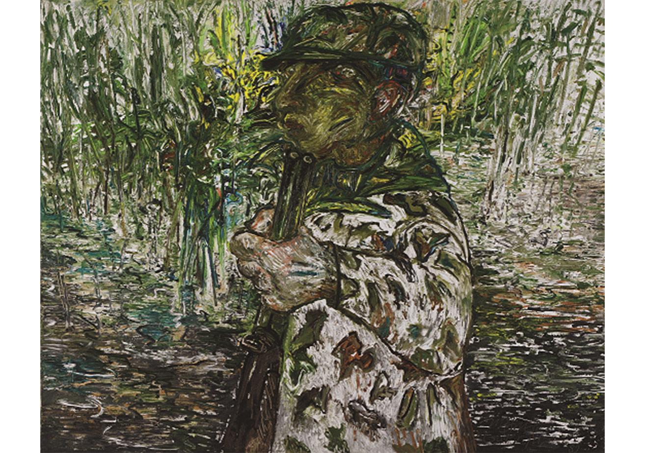 Avcı,Tuval üzerine Yağlı Boya,130 x 162 cm,Dr. Nejat Eczabaşı Vakfı Koleksiyonu