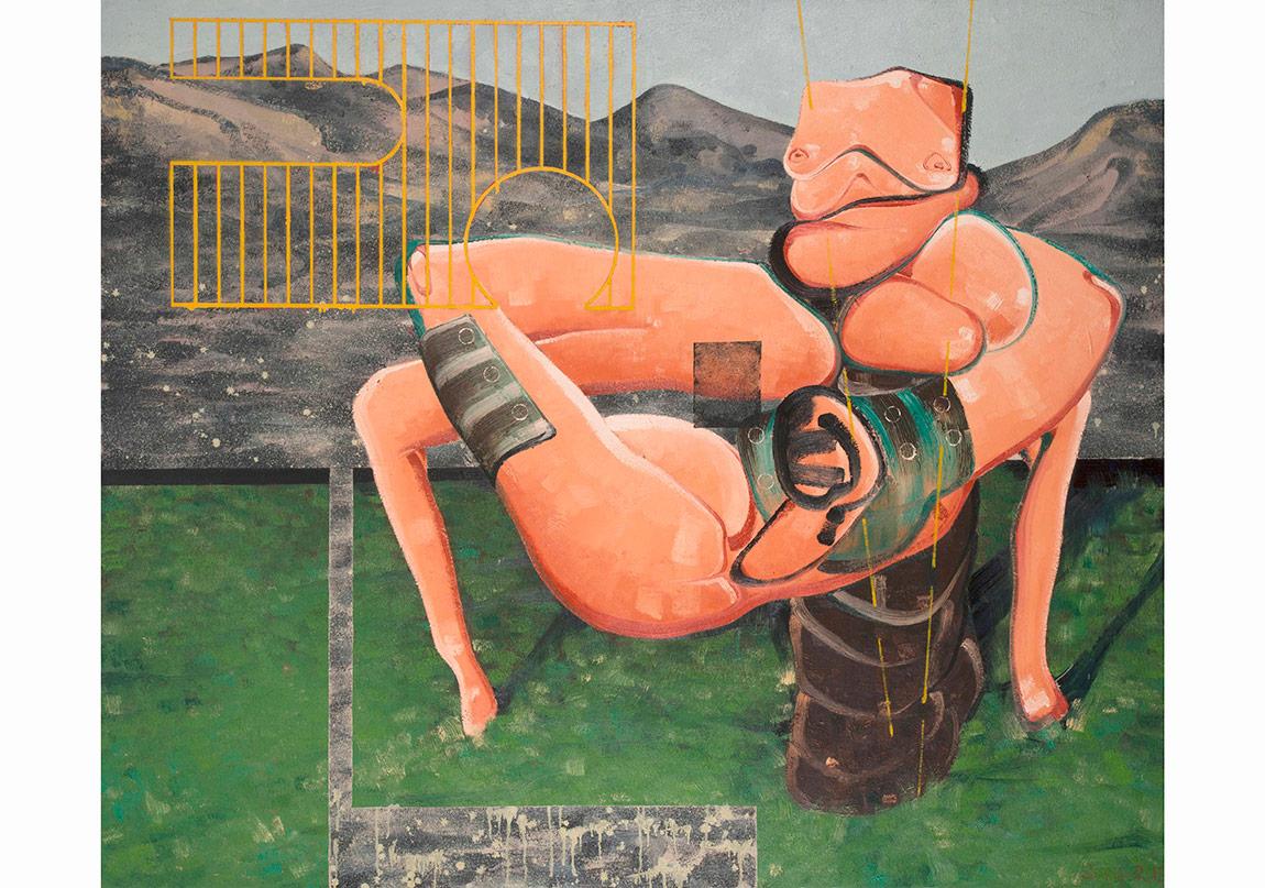 Organik Makine, 2015. Tuval üzerine yağlıboya, 167 x 200 cmOrganic Machine, 2015. Oil on canvas, 167 x 200 cmFotoğraflar: Kayhan Kaygusuz