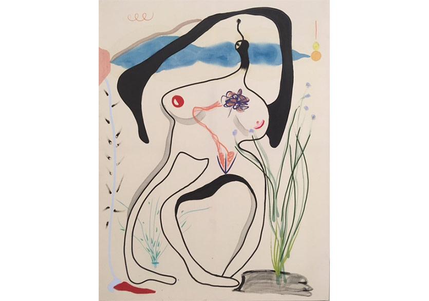 Harnessing Body, Tuval üzerine yağlıboya, pastel ve akrilik, 170x130 cm, 2017