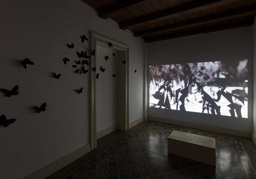 Amorale'nin Siyah Kelebekleri Adolfo Pini Vakfı'nda