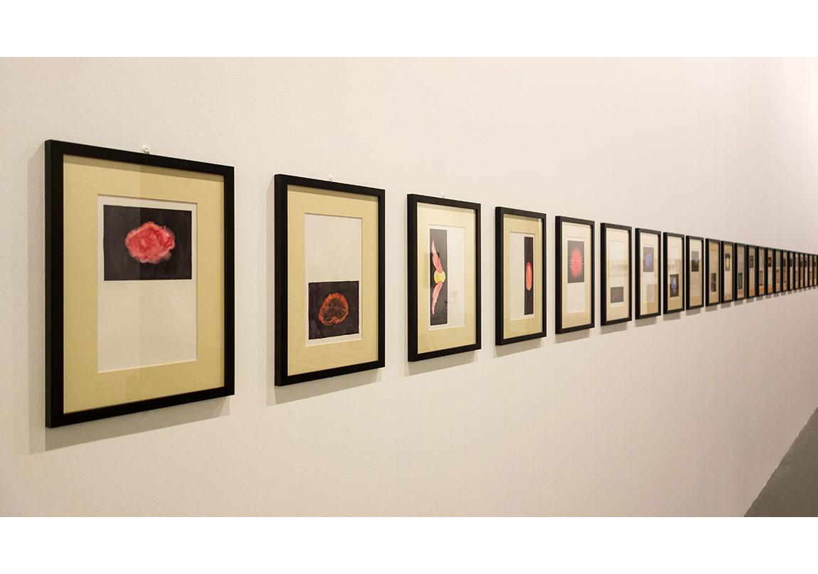 Annie Besant, Thought-Forms (Düşünce Şekilleri), Yaklaşık- Circa 1905-2015, kağıt üzerine suluboya (35 parça), fotoğraf: Sahir Ugur Eren