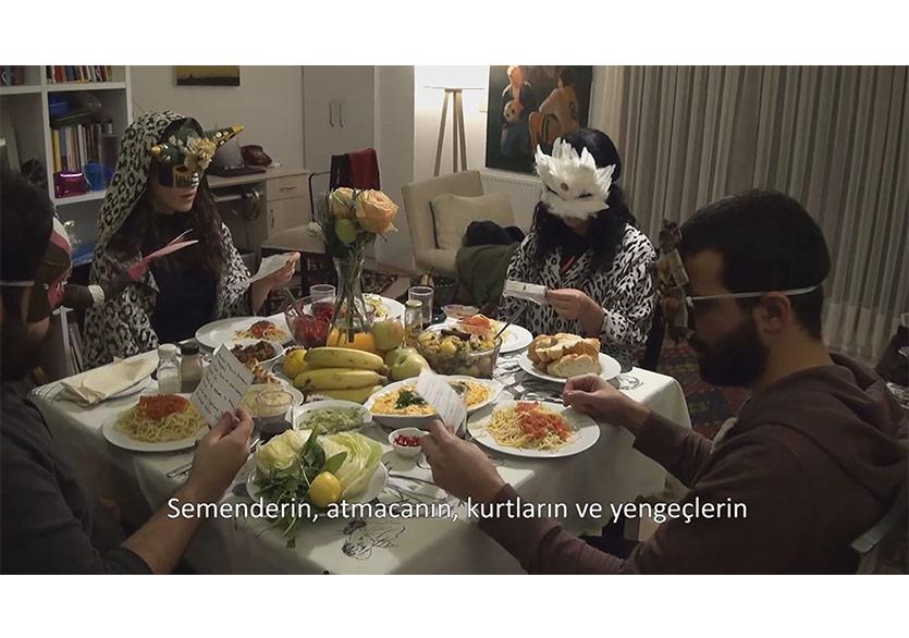 Arkadaşlarla Bir Akşam YemeğiA Dinner With Friends,Video,14'43'', 2018