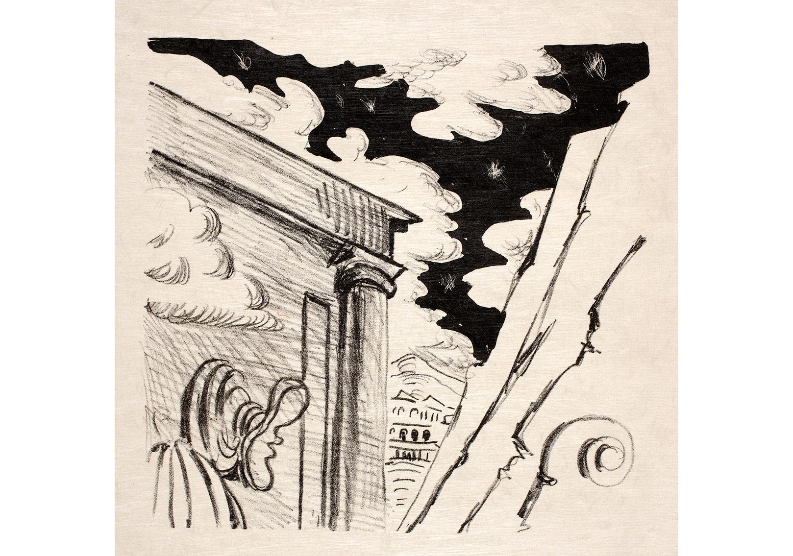 Kaligramlar, G. ApollinaireÉdition Gallimard, Paris 193066 adet taşbaskı, her biri 34 x 26 cm. Giorgio ve Isa de Chirico Vakfı Koleksiyon