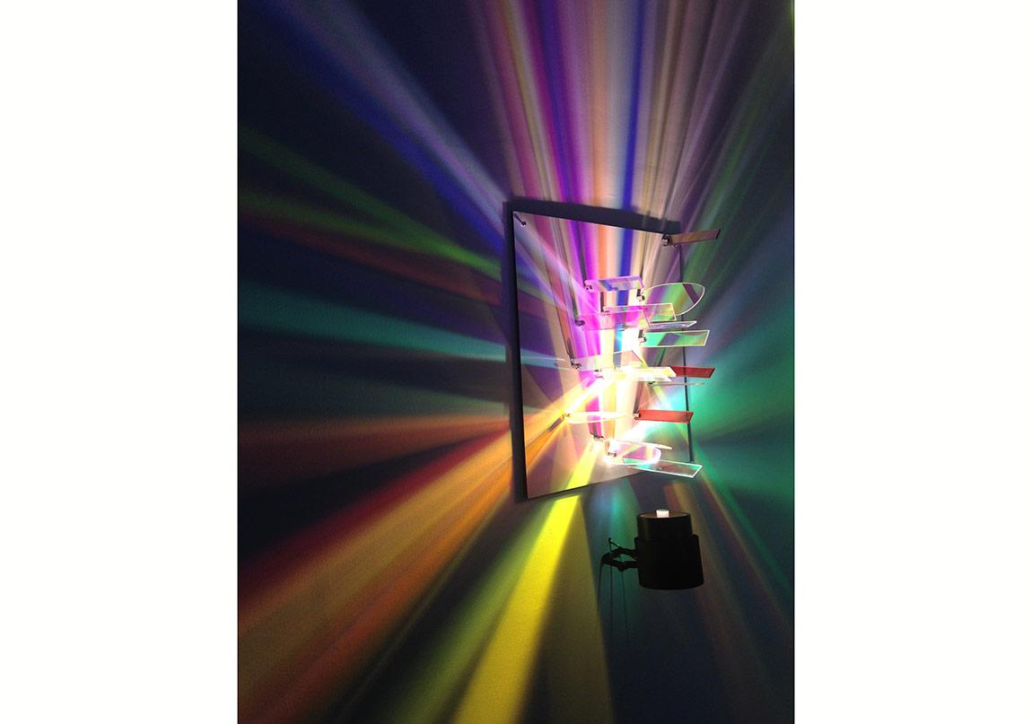 Rainbow: Dikroik Isık yerlestirmesi, 2013, Pg Art Gallery, ve comissioned works.