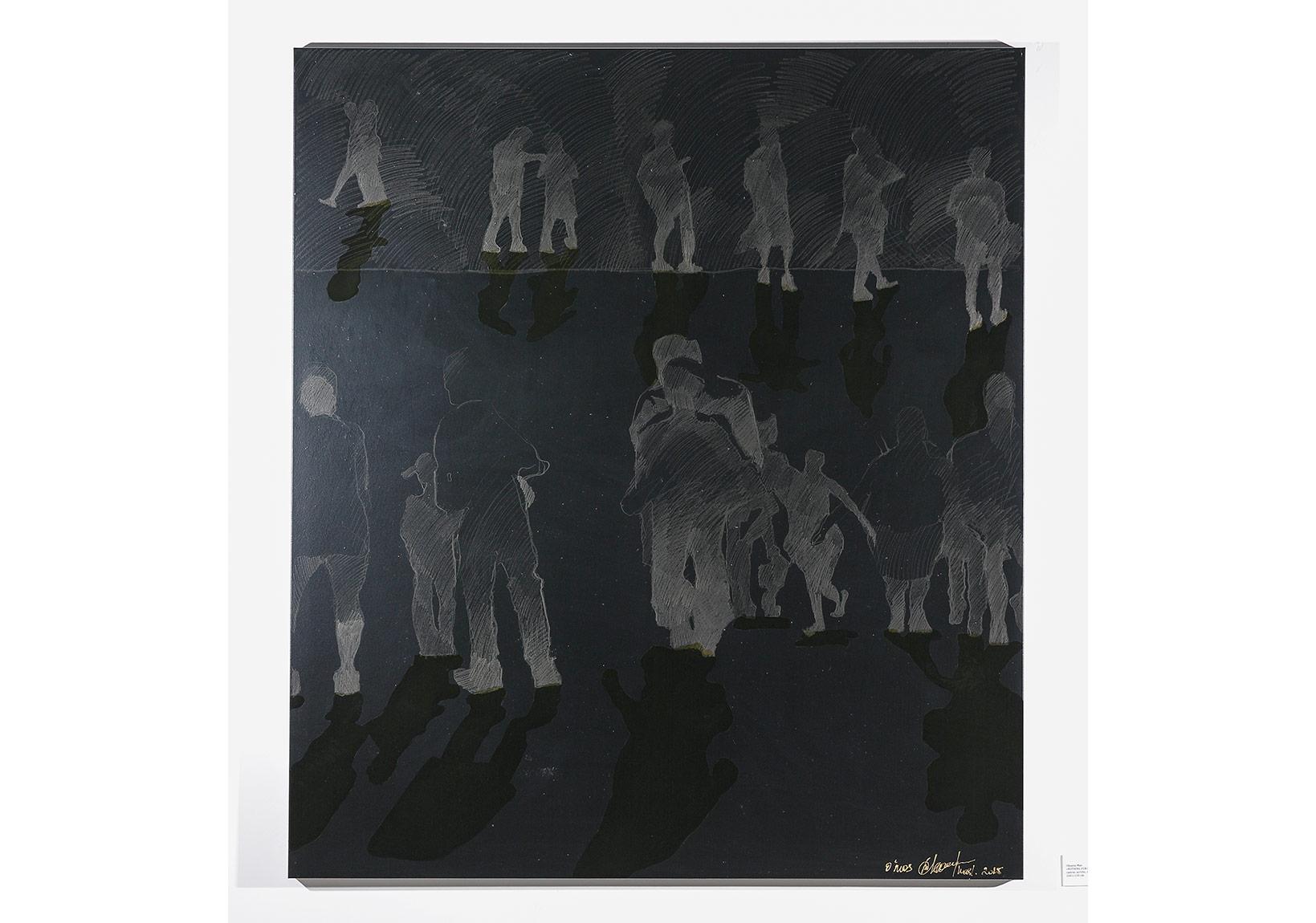 Oksana Mas«NOTHING FOR ONESELF» (2015) canvas, acrylic, varnish, pencil 160х130cm