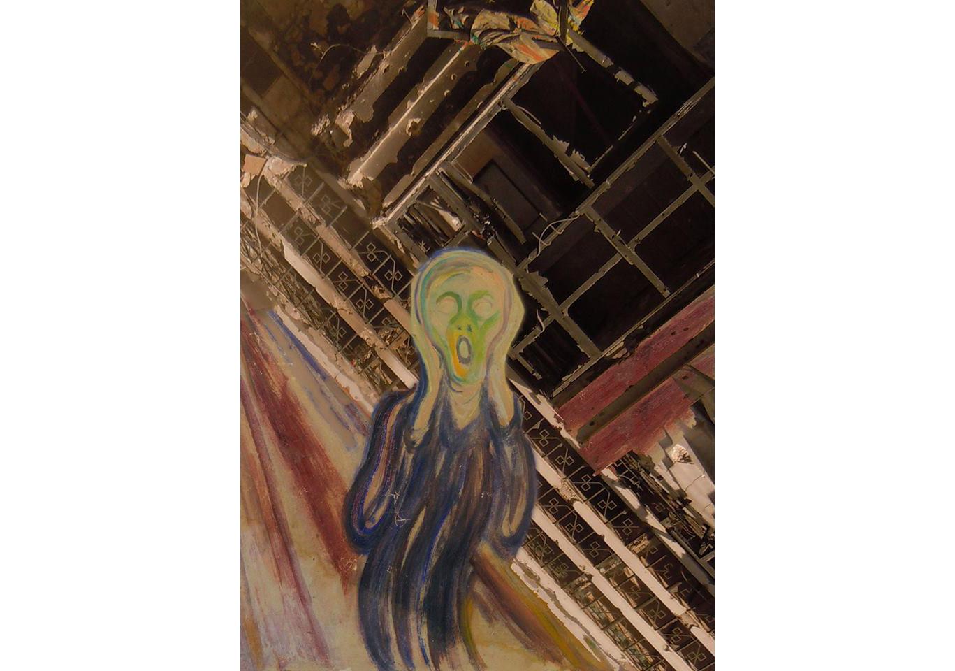 Tammam Azzam, Edvard Munch's The Scream, 2012, archival print on canvas 100 x 70 cm
