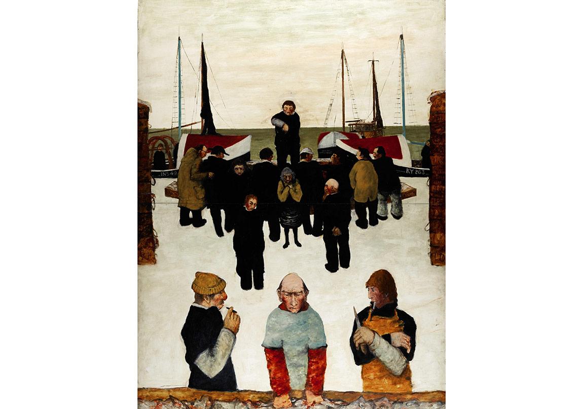 Day Sale, Lot 203, Bellany, Fishermen in the Snow.jpg