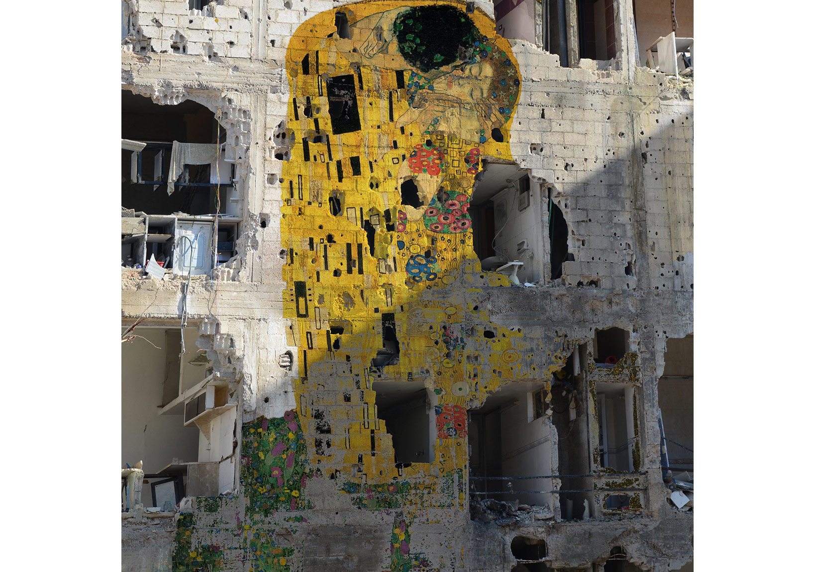 Tammam Azzam Freedom Graffiti, 150x150cm, Archival Print, 2012, Edition of 5