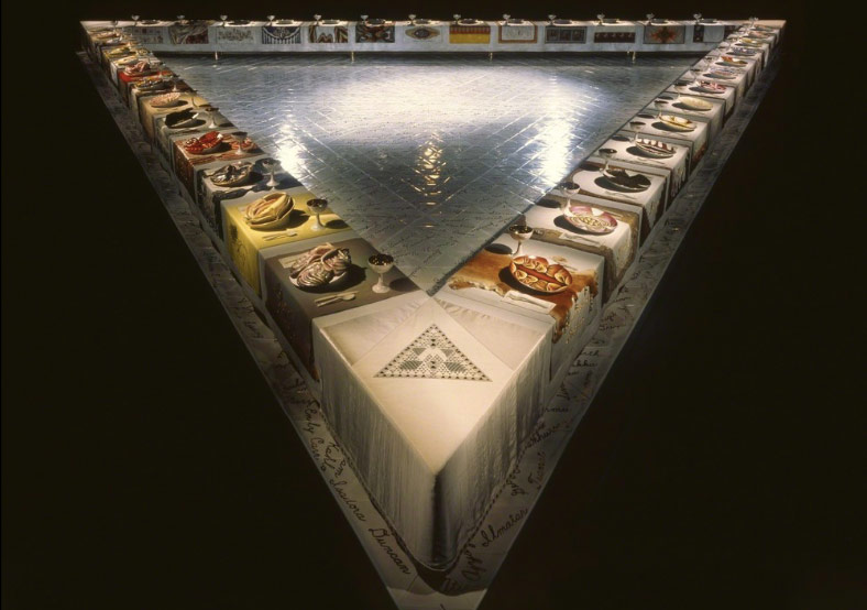 Judy Chicago, The Dinner Party1979 https://www.artsy.net/artwork/judy-chicago-the-dinner-party/zoom