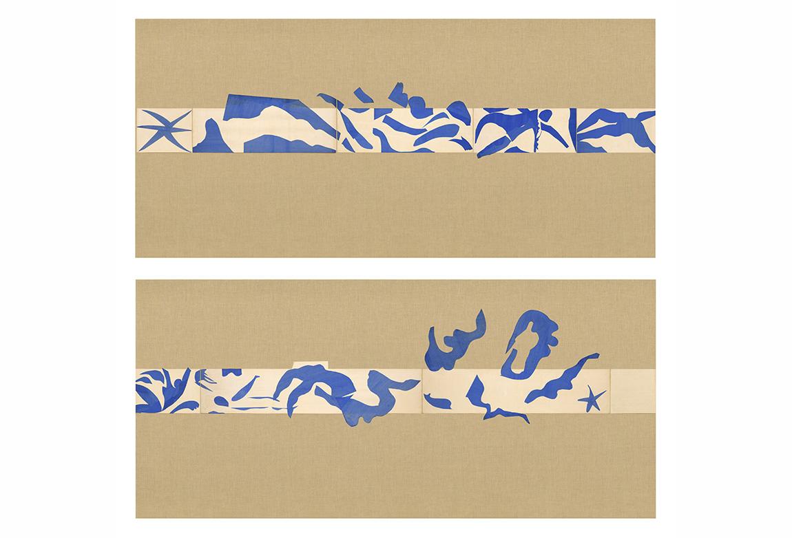 Henri Matisse (1869-1954). Yüzme Havuzu (La Piscine), Yaz, 1952. Kağıt üzerine guaş boya (185.4 x 1653.3 cm). (345.4 cm duvar üzerine 9 panel) The Museum of Modern Art, New York. Mrs Bernard F. Gimbel Fund, 1975 © 2014 Succession H. Matisse / Artists Rights Society (ARS), New York