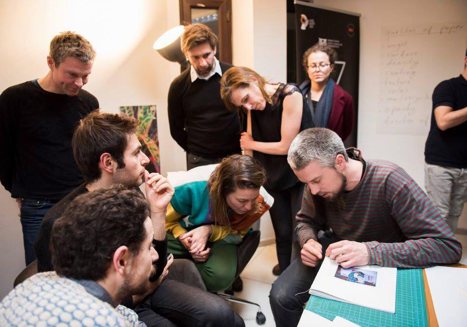 Michela Palermo & Nico Baumgarten'ın yürüttüğü FUAM'ın 'Açık Sırt' başlıklı ikinci fotoğraf kitabı atölyesinden © FUAM ekibi