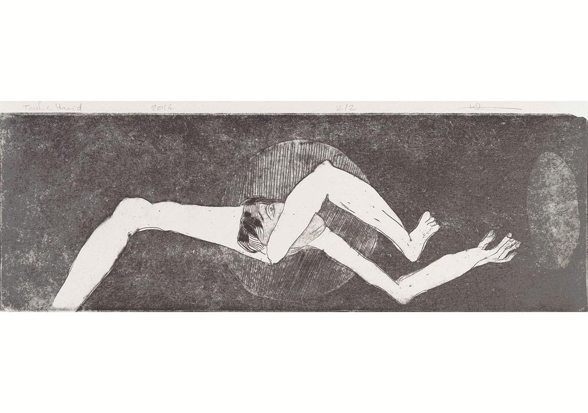 Toufic Hamidi - Give me a tissue 2, 2014 10x30cm, gravür